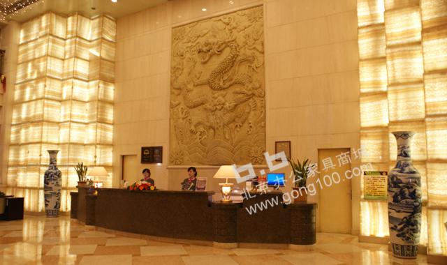 大堂前台 大理石 大堂前台 前台接待台 北京办公